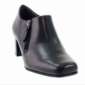 FRANCO SARTO Black Moonbeam Ankle Bootie Side Zip